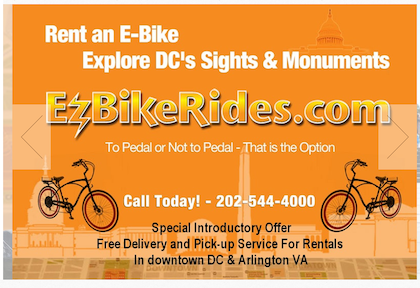 Electric bicycle rentals WordPress site in Washington, DC picture